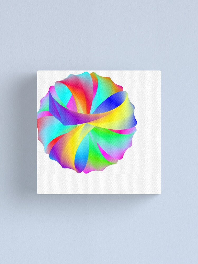 Alternate view of Rainbow Wedding Favors Canvas Print