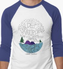 Einstein: Nature Men's Baseball ¾ T-Shirt