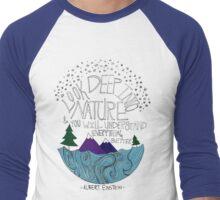 Einstein: Nature Men's Baseball ¾ T-Shirt