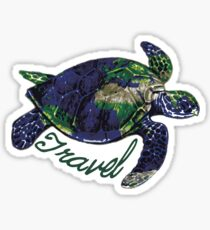 Wanderlust Turtle Sticker