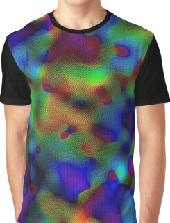 Rainbow Displacement Graphic T-Shirt