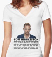 Tom Hiddleston Filmography Women's Fitted V-Neck T-Shirt