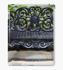 Ornate antique bench belle isle iPad Case/Skin
