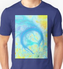Streams of Joy - Cosmic Aqua & Lemon Unisex T-Shirt