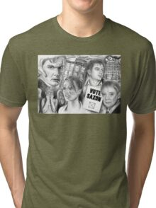 Doctor Who the sound of drums Tri-blend T-Shirt