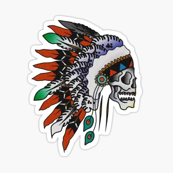 Skull Chieftain Sticker