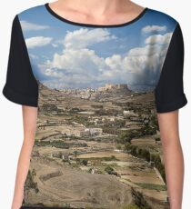 Gozo countryside in colour Chiffon Top