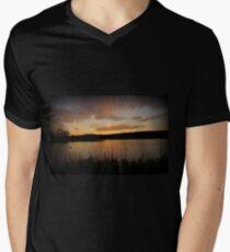 Minsi March Sunset Mens V-Neck T-Shirt