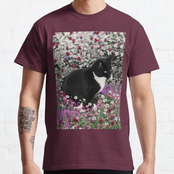Freckles in Flowers II - Tuxedo Cat Classic T-Shirt
