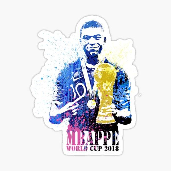 mbappe et coupe du monde 2018 Sticker