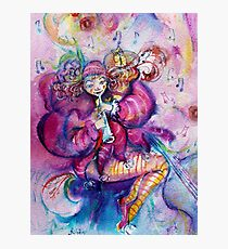 MUSICAL PINK CLOWN Photographic Print