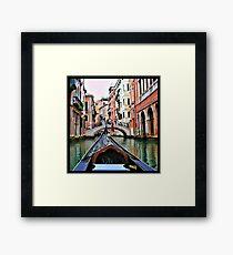 Gondola View Framed Print