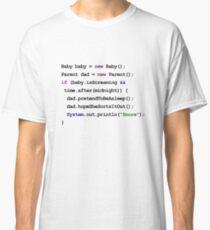 Java Code New Baby - pretend to be asleep Classic T-Shirt