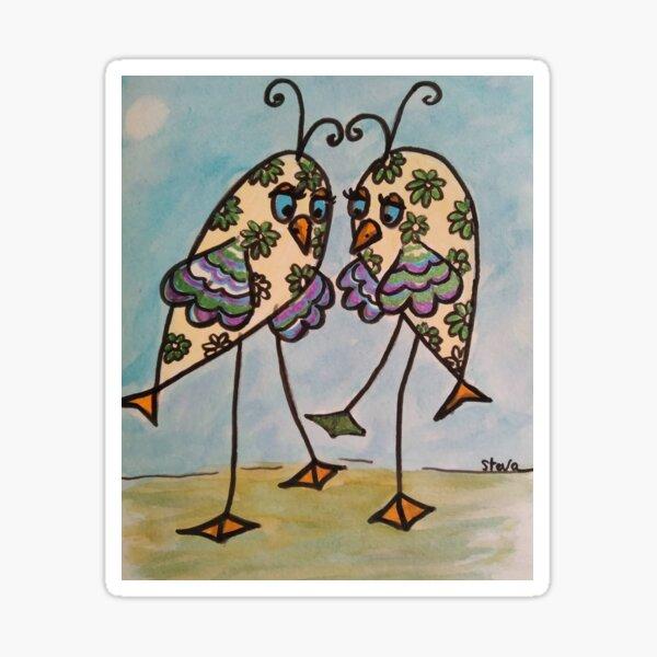 Les élégantes, aquarelle, Steva Sticker