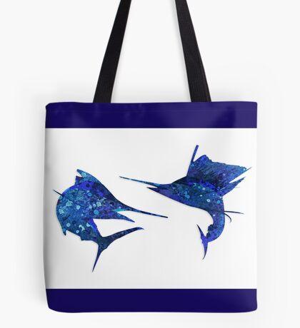 Marlin / Sailfish Mosaic - Dark Tote Bag