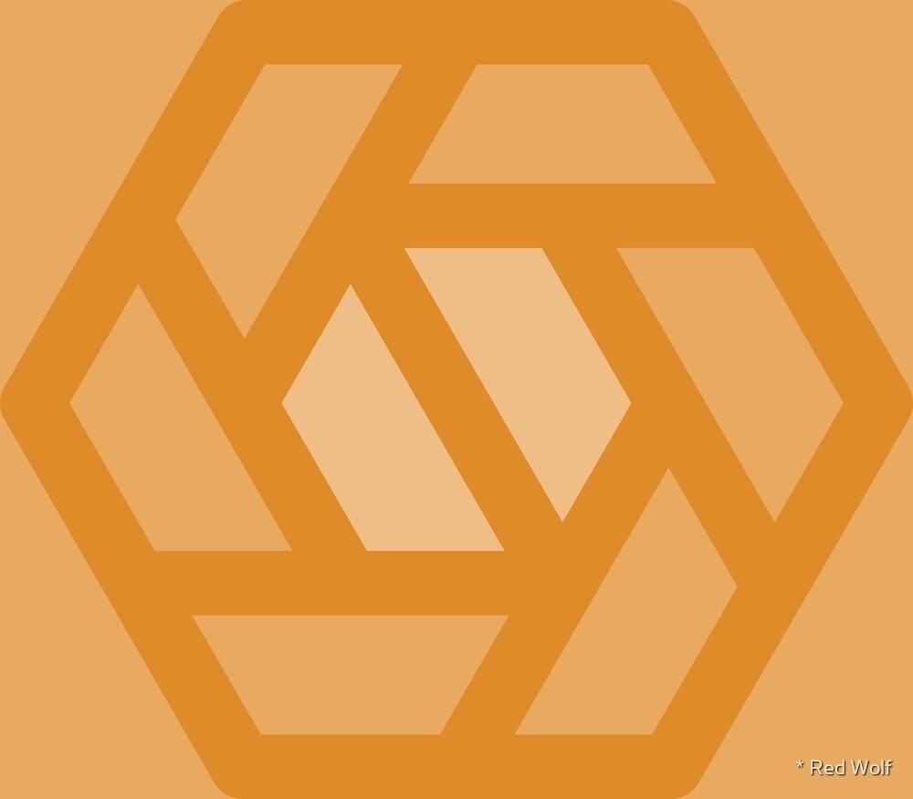 Geometric Pattern: Aperture: Butterscotch by * Red Wolf