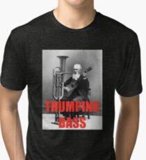 THUMPING BASS - Origins of House Music Tri-blend T-Shirt