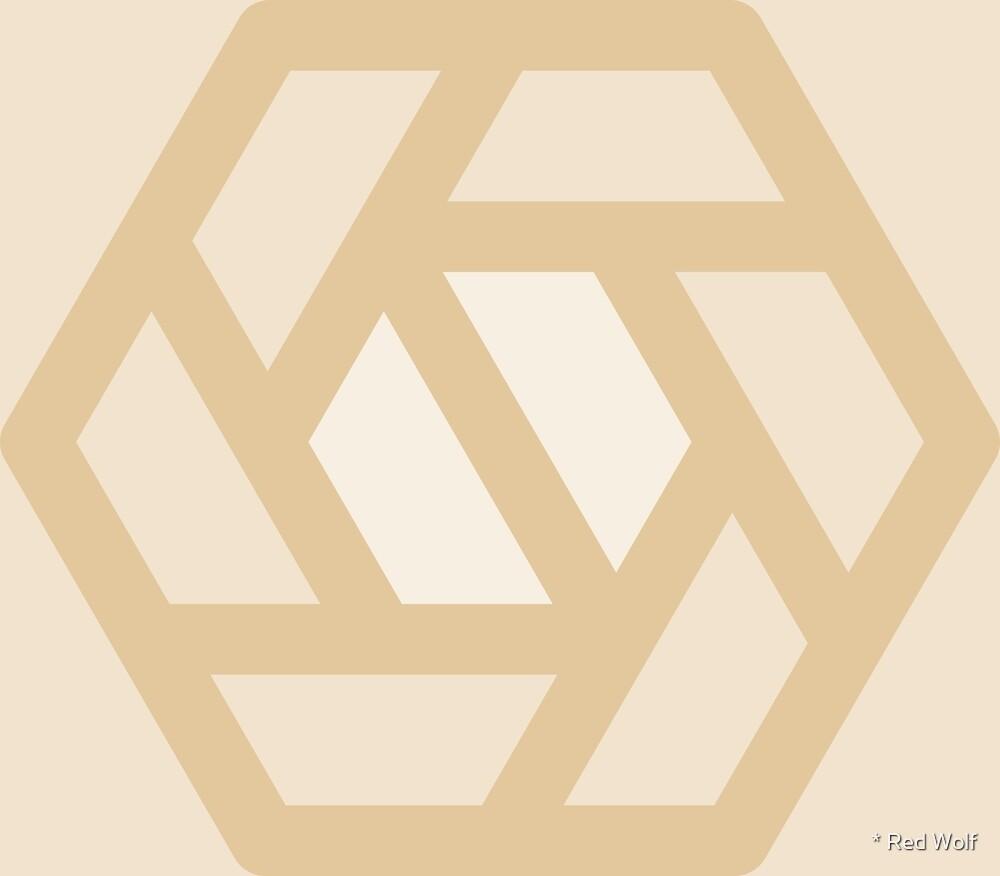 Geometric Pattern: Aperture: Linen by * Red Wolf