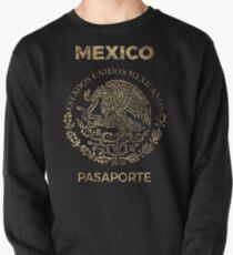 Mexico Vintage Passport Pullover Sweatshirt