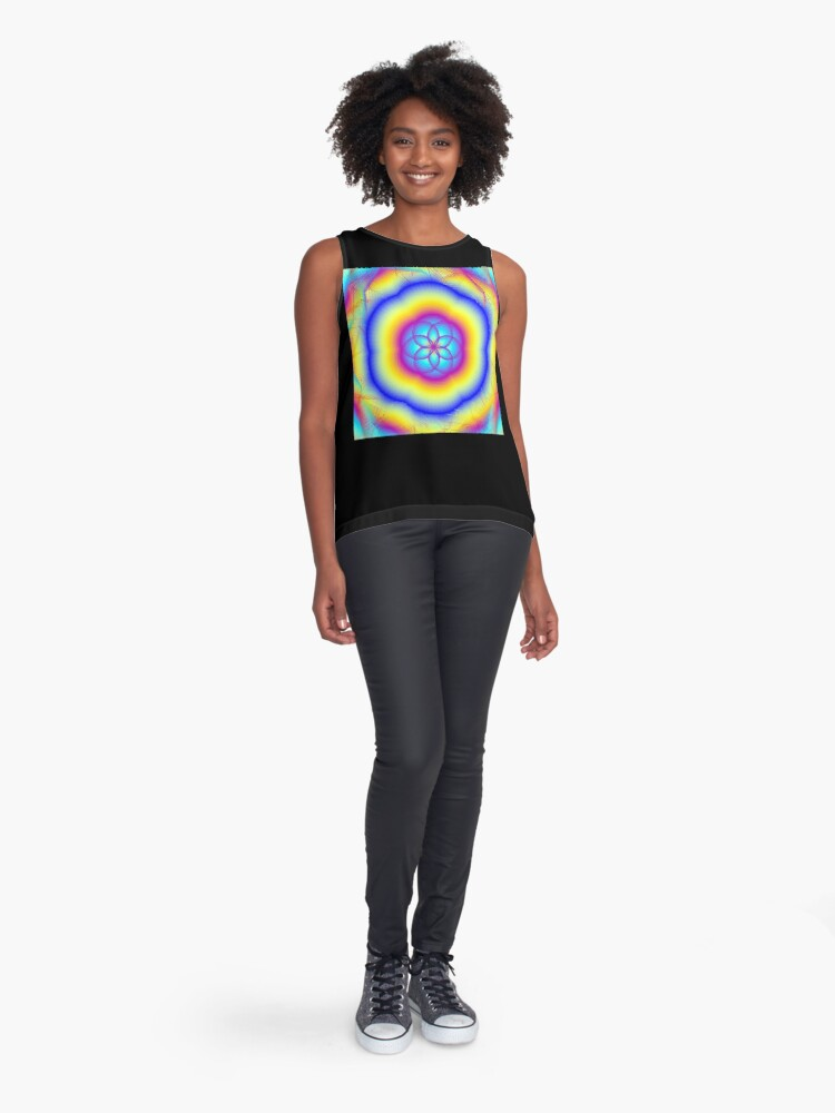 Alternate view of Sacred Gifts for Secret Rainbow Lovers Sleeveless Top