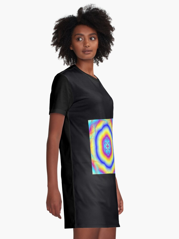 Alternate view of Sacred Gifts for Secret Rainbow Lovers Graphic T-Shirt Dress