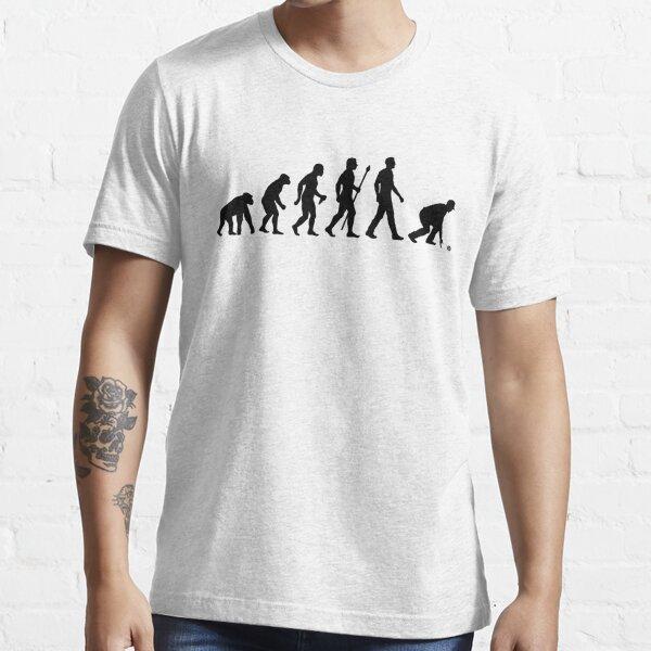 Funny Lawn Bowls Evolution Of Man Essential T-Shirt