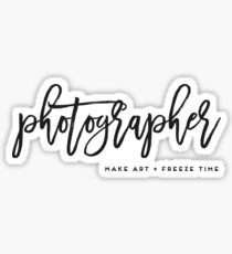 Photographer make art and freeze time in Charcoal Sticker