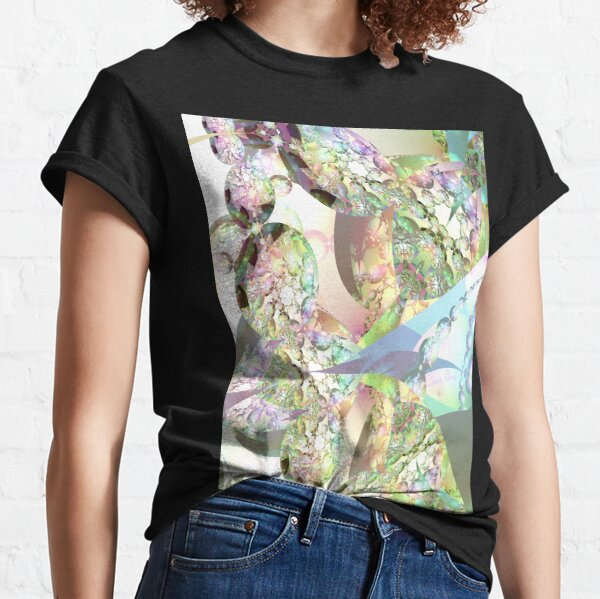 Wings of Angels - Celeste & Amethyst Crystals Classic T-Shirt