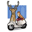 Deer Vespa by pencilfury