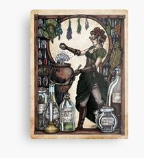 Ezlynn the Industrial Witch by Bobbie Berendson W Metal Print