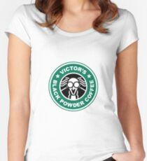 Victor's Black Powder Coffee Women's Fitted Scoop T-Shirt