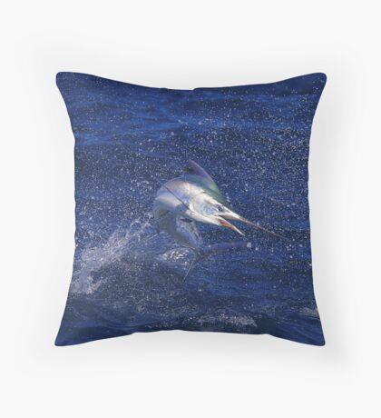 Marlin Canvas or Print - Juvenile Black Marlin Throw Pillow