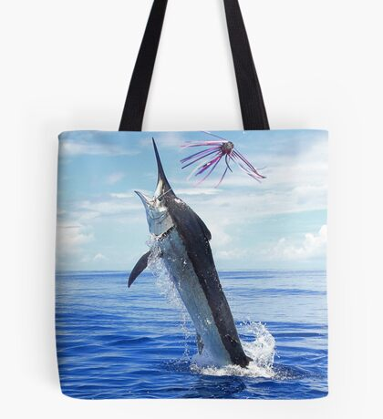 Marlin Canvas or Print - Giant Black Marlin Tote Bag