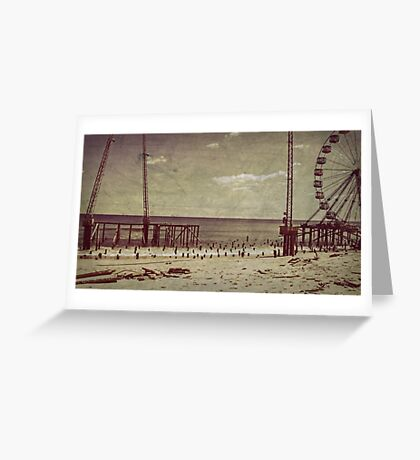 Seaside Heights After Sandy Greeting Card