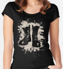 Old Boots bleached look Women's Fitted Scoop T-Shirt