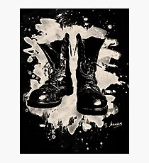 Old Boots bleached look Photographic Print