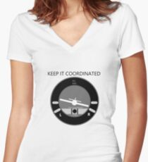 Keep it Coordinated Women's Fitted V-Neck T-Shirt