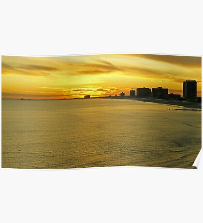 Atlantic City Sunset Poster