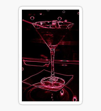 Neon Martini Sticker