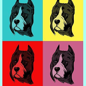 Dog Pop Art by MrZafra