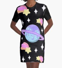 Melty Minty Planet Graphic T-Shirt Dress