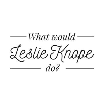 What would Leslie Knope do? by lrschh
