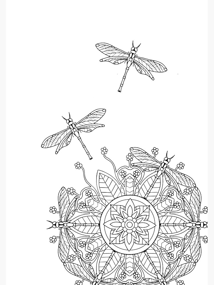 """Dragonfly Mandala 2 