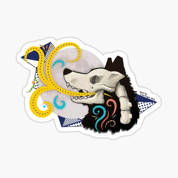 Wolf skull illustration Sticker