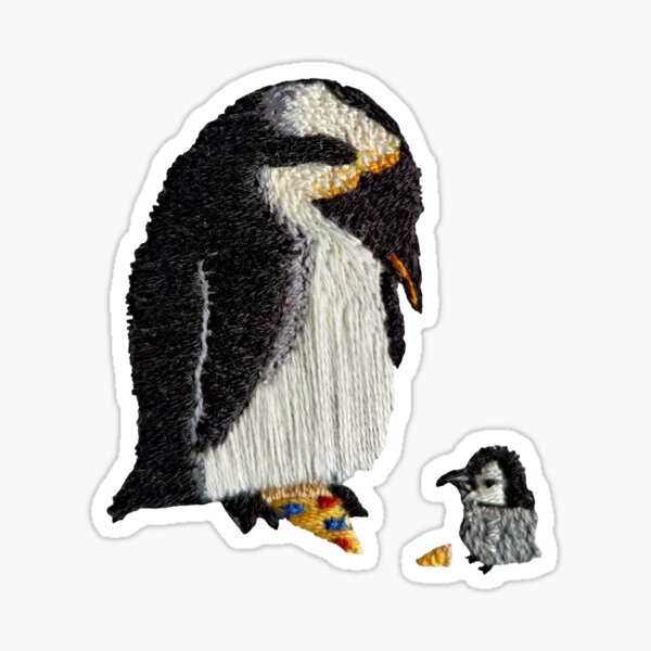 Pizza Penguins Sticker
