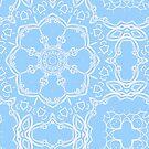 Blue and White Mandala by Edward Huse