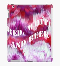 Red, white and beer iPad Case/Skin