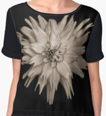 Black and white flower Chiffon Top