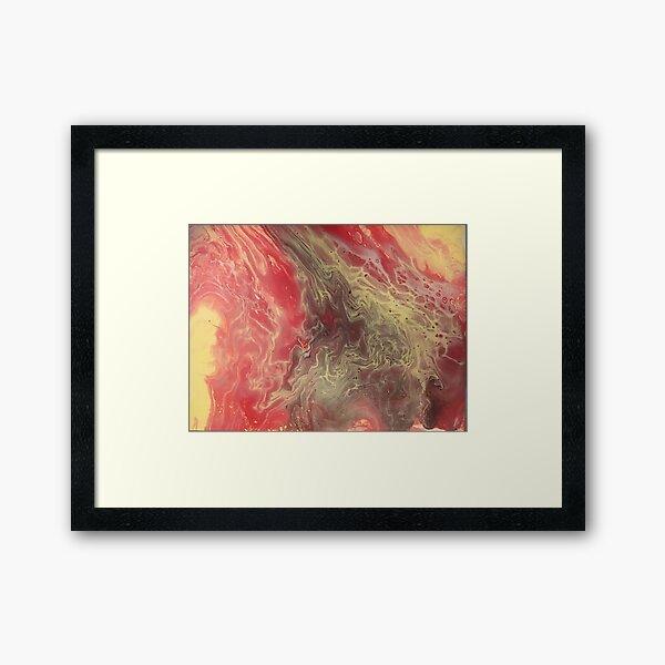 Acrylic Drip Painting  Framed Art Print