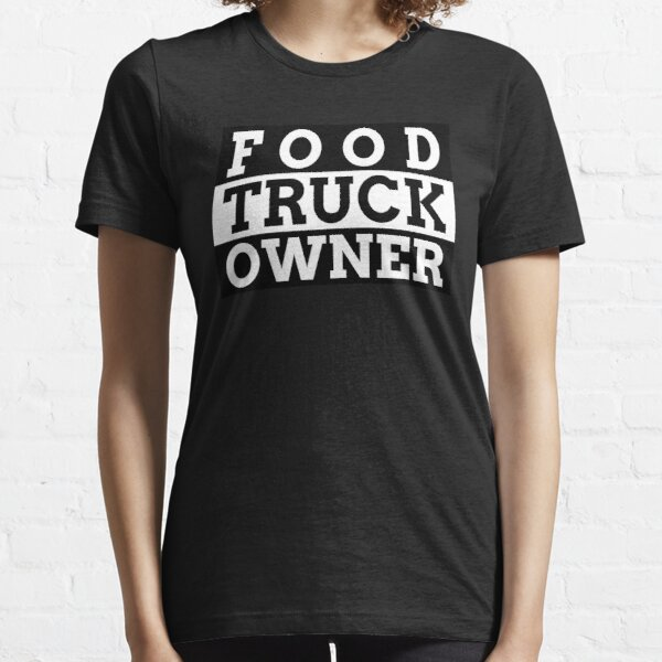 Food Truck Owner Parental Advisory Styled Typography Essential T-Shirt